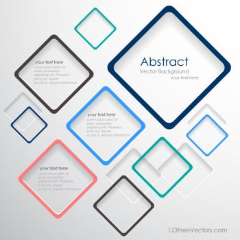 Abstract Squares Background Free Vector by 123freevectors