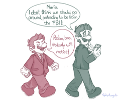 More Supernatural Bros. AU by SpicyAvogato