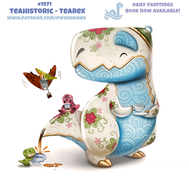 Daily Paint 1971# Teahistoric - Tearex by Cryptid-Creations