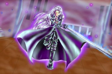 Sephiroth battle by powerswithin