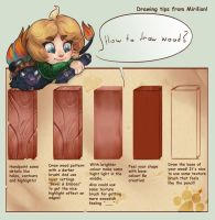 Draw Wood Tutorial by Mireland-art