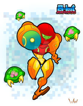 8-bit Madness Metroid by WarBrown
