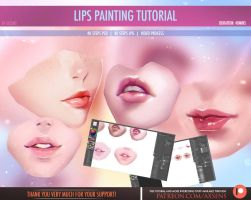 Lips Painting Tutorial by Axsens