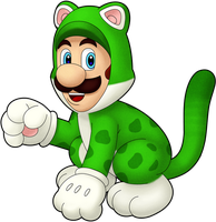 Cat Luigi!! by IndigoWildcat