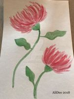 Colored Sumi Ink: Chrysanthemums