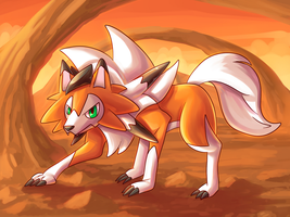 Dusk Lycanroc by DarkrexS