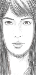Asian Face sketch by randychen