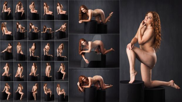 Stock: Allie Nude Posing Stools - 29 Images by stockphotosource
