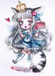 Watercolor chibi commission by Inntary