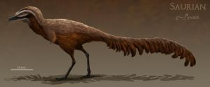 Hell Creek Alvarezsaurid by ChrisMasna