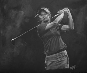 Suzann Pettersen my painting by cliford417
