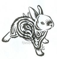 another bunny tattoo by Rienquish