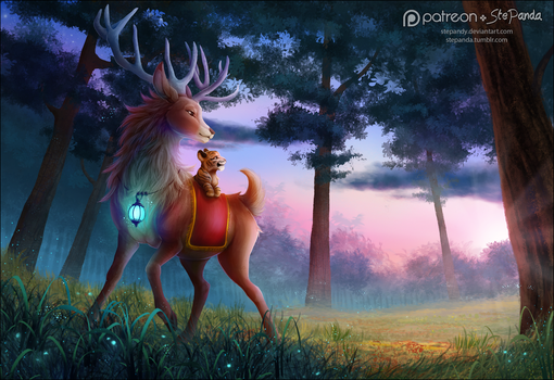 Lights in the Forest by StePandy