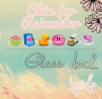 Skin for Rainmeter Glass Dock by Isfe