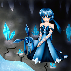 Glaceons cavern~ by dathie