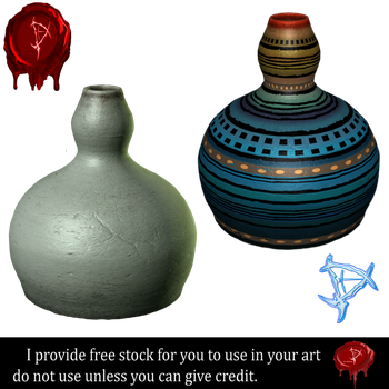 Pottery stock 1 by Prince-of-airbrush