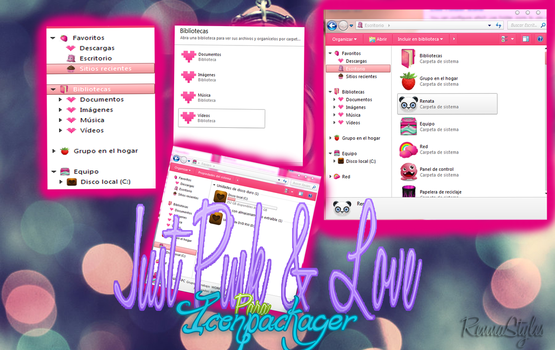 Just Pink and Love IconPackager by RennaStyles