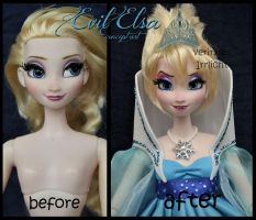 ooak limited edition frozen concept art evil elsa. by verirrtesIrrlicht