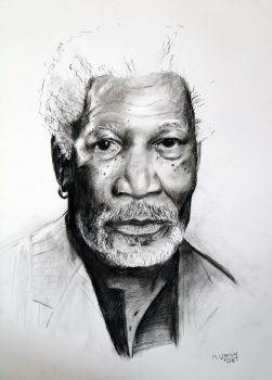 coal Morgan freeman by SwanNebula