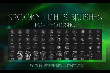 Premium zummerfish's spooky lights brushes by zummerfish