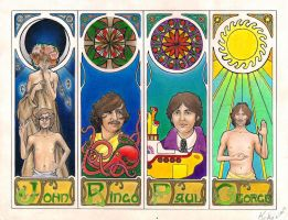 The Beatles done by KikiDeMontparnasse