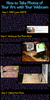 How to Take Photos of Your Art With Your Webcam by purpledragon42