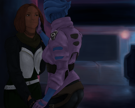 Peebee and Ryder by Nils991