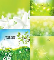 Free Six of Natural Vector Background by vectorbackgrounds