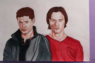 Dean WInchester y Sam Winchester (Supernatural) by NayaGm