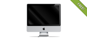 Apple iMac front view by ChocoTemplates