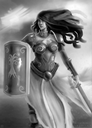 Warrior Woman - For Card Game by williamzel
