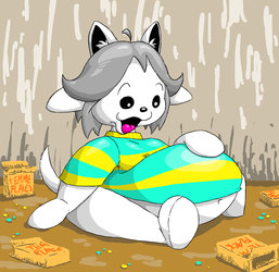 Temmie Tummy by Vellidragon