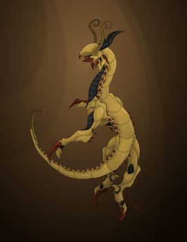 Centipede Dragon by Pearl-Shadow