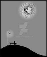 My only friend was the man in the Moon by iadambose
