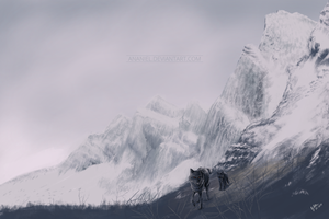 Mountains of Nasval by Ananiel