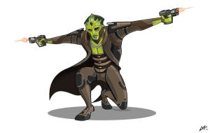 Thane Krios, ME2 by The-Banderlog