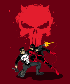 The Punisher VS Daredevil: Design Two by Sonic-E