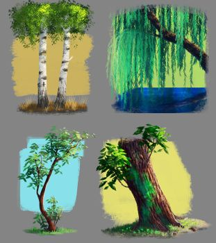 trees by kafel88