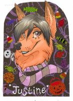 Badge- JustineFox by Ifus