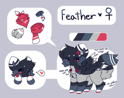 . feather reference 2018 . by lonely-niqht