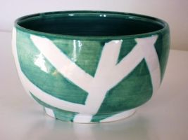 Turquoise Bowl by lizetpottery