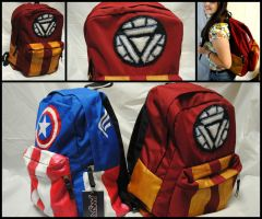 Avengers Iron Man Minimalist Backpack by rickardshater