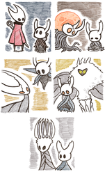 Hollow Knight Sketches by KuluGary