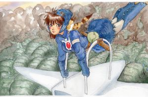 Nausicaa of the valley of the wind by Scarlet-Adrianne