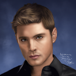 Digital Photo Painting 2 (Video - Jensen Ackles) by ronggo