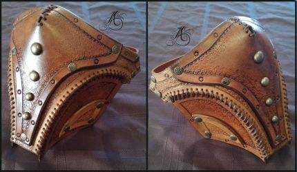Steampunk Leather Lower Face Mask by JAFantasyArt