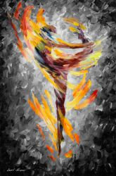 DANCE OF LOVE mixed color and BW giclee by Leonidafremov