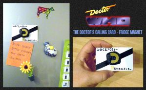 The Doctor's Calling Card - Fridge Magnet by mikedaws