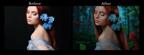 wild beauty before after by ektapinki