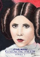 Star Wars GF S2 - Princess Leia Sketch Art Card 1 by DenaeFrazierStudios